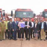 Korean Association Hands Over Fire Trucks