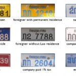 Vientiane Authorities Launch Stricter Inspections of Vehicle Number Plates