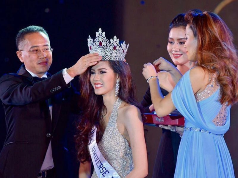 MUL03 Souphaphone Somvichit is crowned Miss Universe Laos 2017
