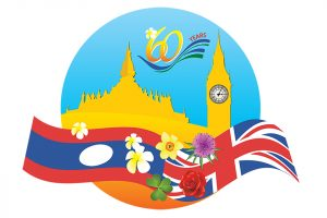 Laos-UK 60th Anniversary Logo