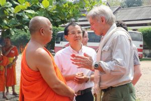 Harrison Ford with Buddhist monks