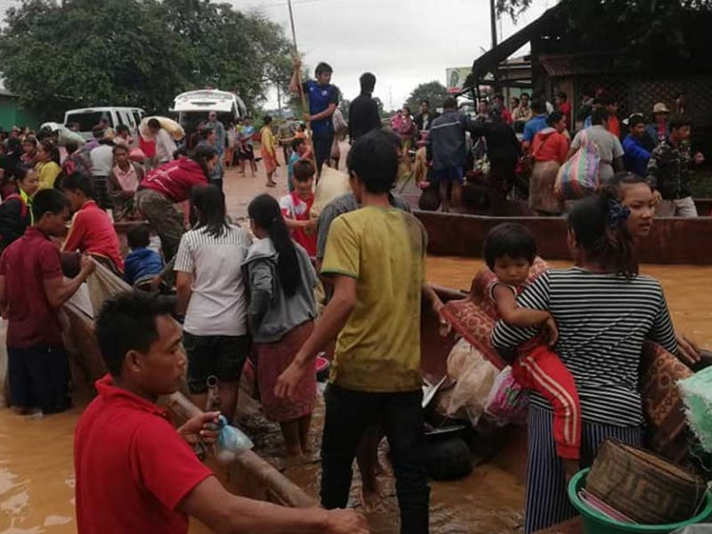 how to donate to attapeu flood and dam victims