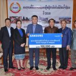 Lao Samsung Electronics donates US$100,000 to assist with Attapeu flood