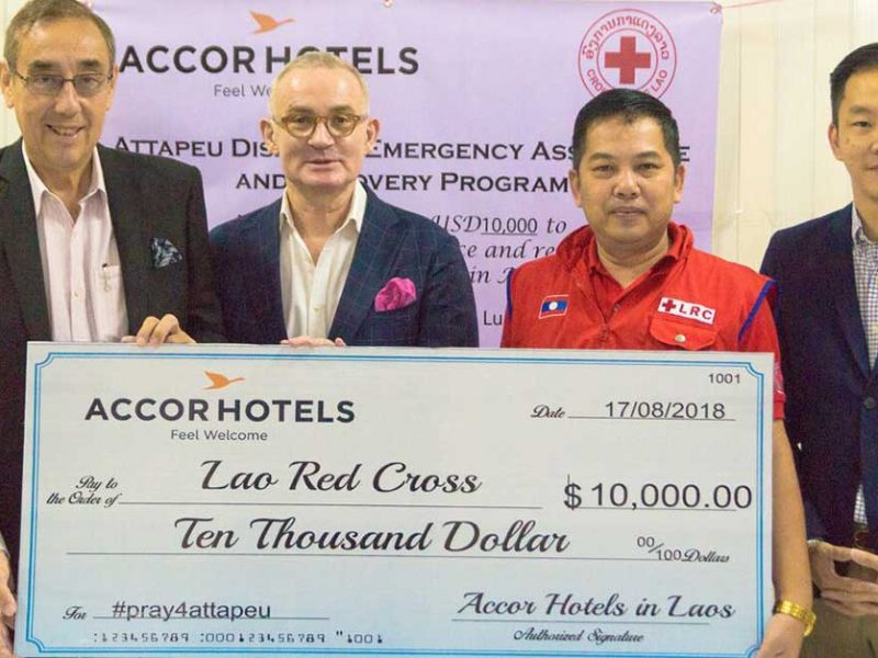 AccorHotels donates to Attapeu victims