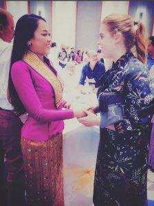UK's Princess Beatrice and Laos' Tot Lina