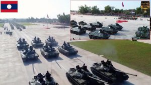 Lao Armed Forces Show off Russian-made Tanks at 70th Anniversary parade