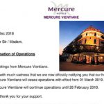 Mercure Closes Doors on Vientiane Property