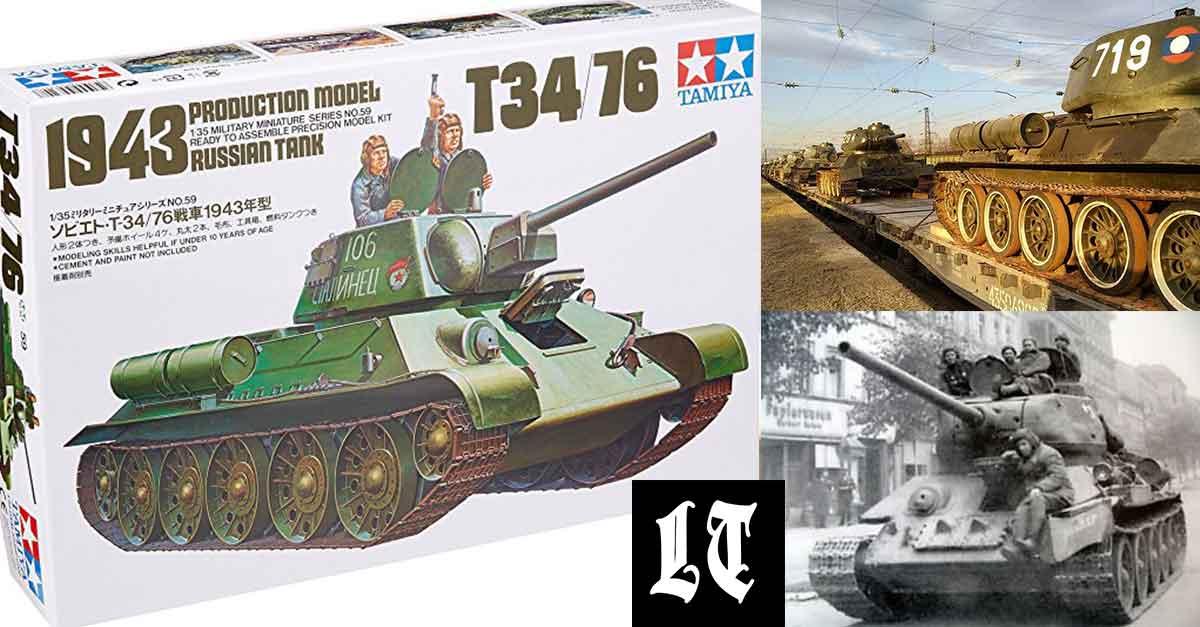 Russian T34 Tanks Return From Laos