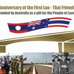 First Lao-Thai Friendship Bridge Opened in 1994, Funded by Australia.