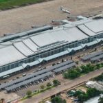 Vientiane's Wattay International Airport in 2018 (Hazama Ando Corporation)