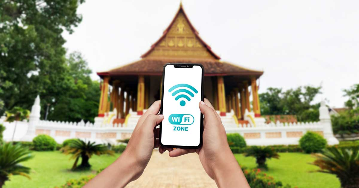 Free wi-fi for tourists in Vientiane