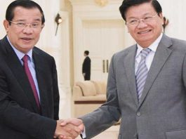 Hun Sen meets Thongloun on Border Issue (Photo: Khmer Times)