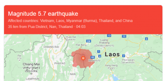 Magnitude 5.7 Earthquake Hits Laos