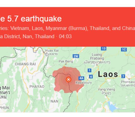 Magnitude 5.7 Earthquake Hits Laos