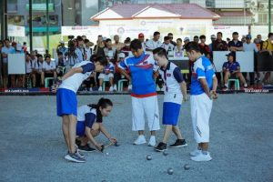 The Lao Women's Team compete in the World Petanque Championships