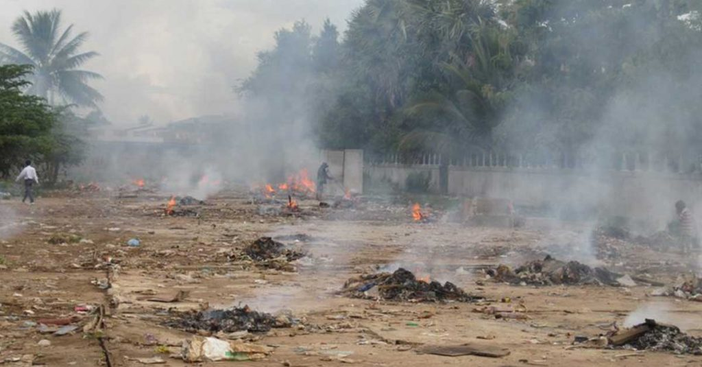 Burning Garbage is to be banned in Vientiane Capital