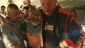 Thai authorities arrest serial killer Somkid Pumpuang. Photo credit: Royal Thai Police